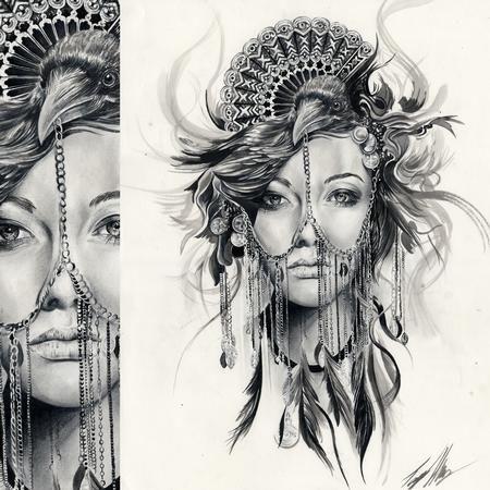 17 mejores ideas sobre cleopatra tattoo en pinterest for Ravens face tattoos