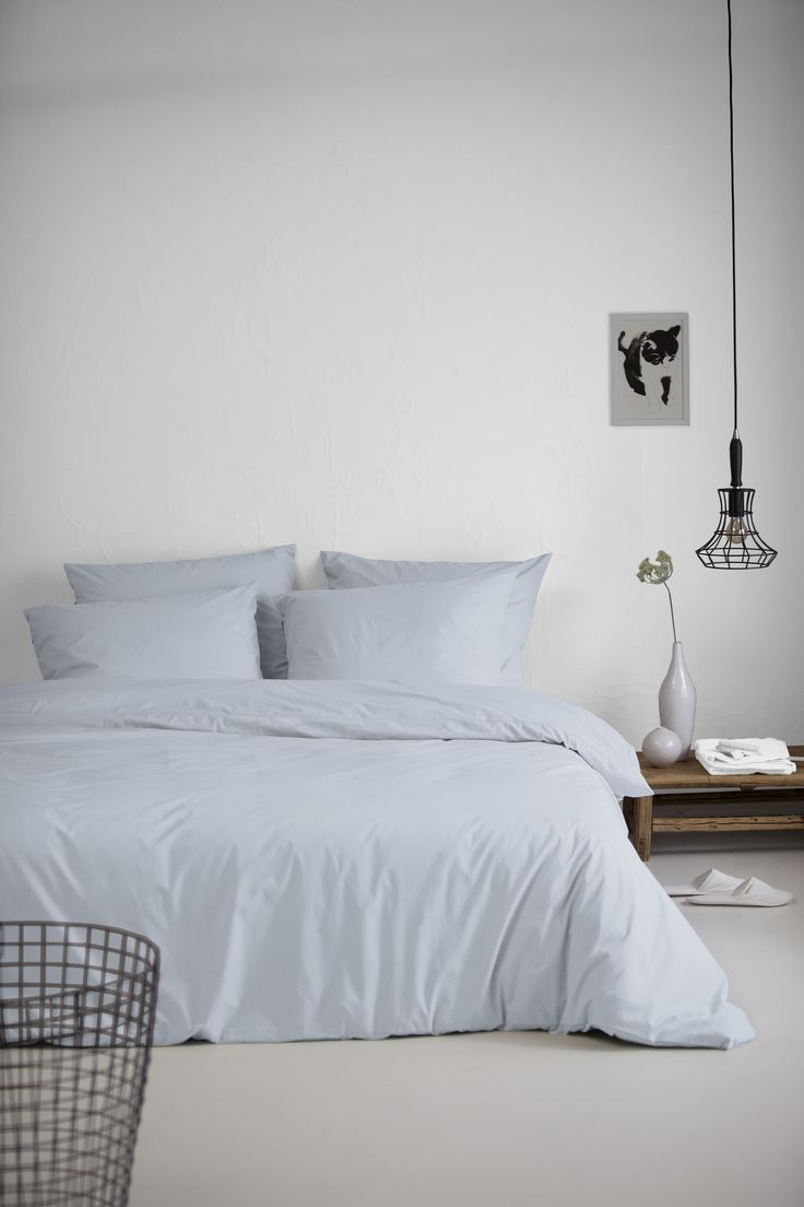 Organic duvet cover from Damai Organic collection. In different pastel colours.. this one is lightblue. A beautiful sofftone. #organic #bio #cover #lightblue #bedroom