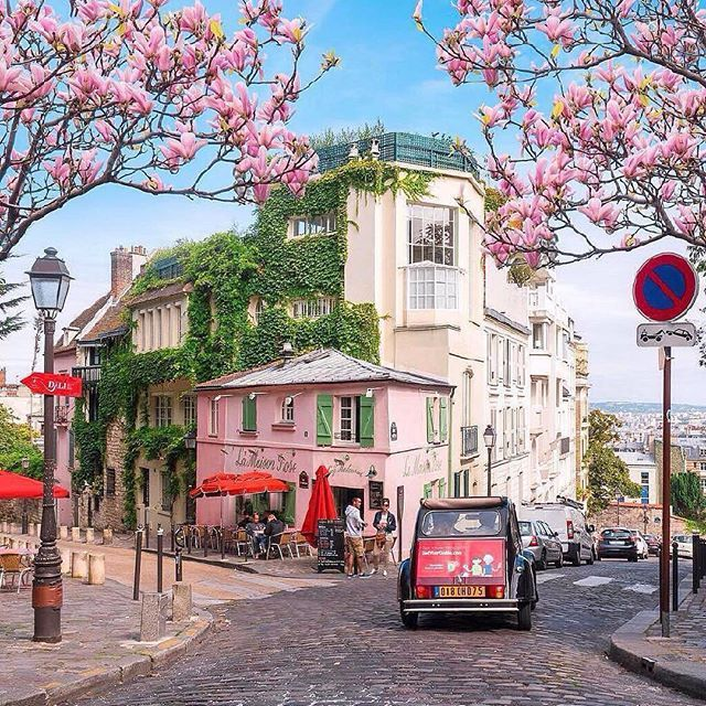 Follow @globefever for more. Montmartre in love 💖 Paris, France. Photo by @saaggo