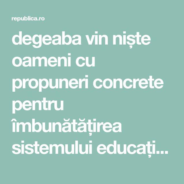 degeaba vin niște oameni cu propuneri concrete pentru îmbunătățirea sistemului educațional românesc, degeaba facem strategii și planuri de acțiune, degeaba băgăm bani în schimburi de experiență și expertiză, căci de fiecare dată o vom lua de la capăt ca și cum fiecare ministru, fiecare administrație, fiecare funcționar este dator să reinventeze roata