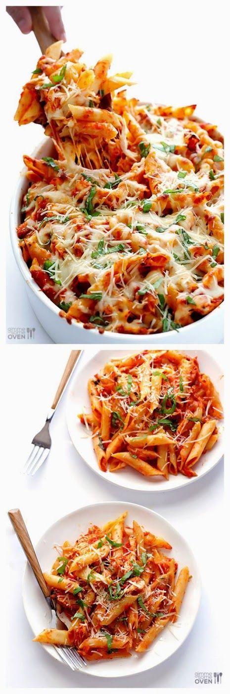CHICKEN PARMESAN BAKED ZITI   #casserole #potatoes #recipe