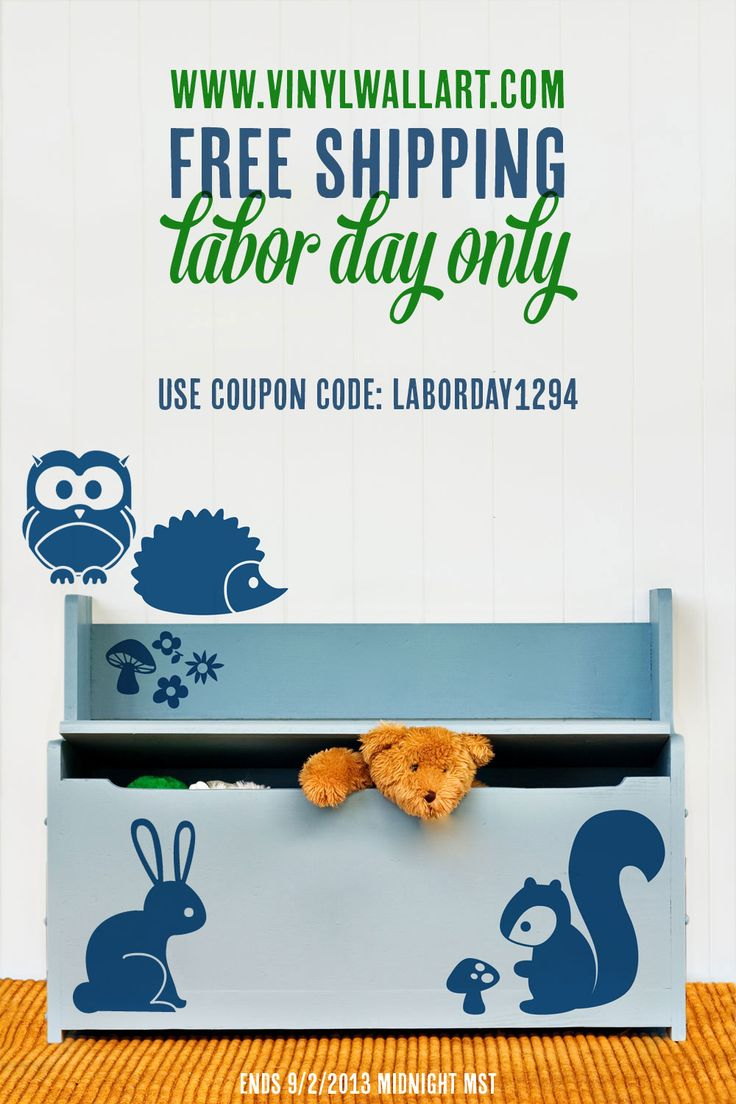 FREE SHIPPING today only at www.vinylwallart.com  Use coupon code: LABORDAY1294