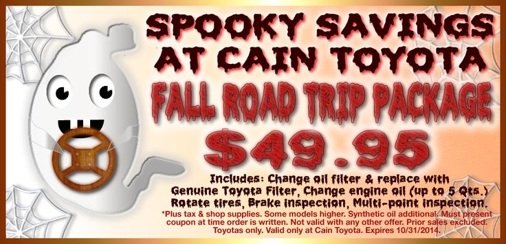 Taking the kids off to college this weekend? Make sure your car is - coupon disclaimers