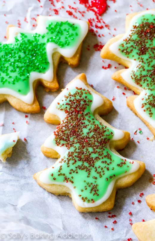 Holiday Cut-Out Sugar Cookies with Easy Icing.
