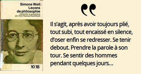 3 février 1909 : naissance de Simone Weil, philosophe française. Elle raconte les grèves de la joie
