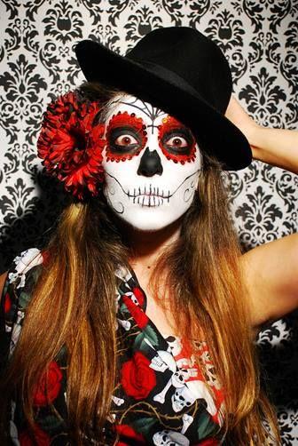 17 meilleures id es propos de maquillage mexicain sur pinterest maquillage sugar skull - Maquillage halloween mexicain ...