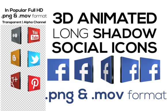 Check out 3D Social Network Icons + Animated by anproductions on Creative Market