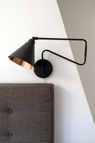 Industrial Style Brown and Copper Wall Light £125 + £6 at furnish.co.uk
