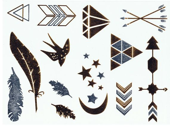 Gold and Silver Temporary Metallic Tattoos / Gold and Silver Flash Tattoos / Jewellery Tattoos / Semi Permanent Tattoo