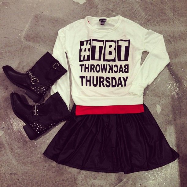 The perfect Throwback Thursday outfit - Right? #tbt #cuteoutfit #outfitinspo