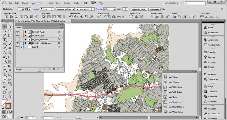 How to get Open Street Map data into Adobe Illustrator with MAPublisher