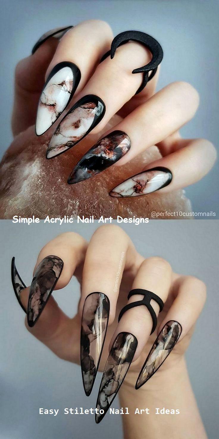 30 große Stiletto Nail Art Design-Ideen #naildesigns #nailideas – Stiletto Nails