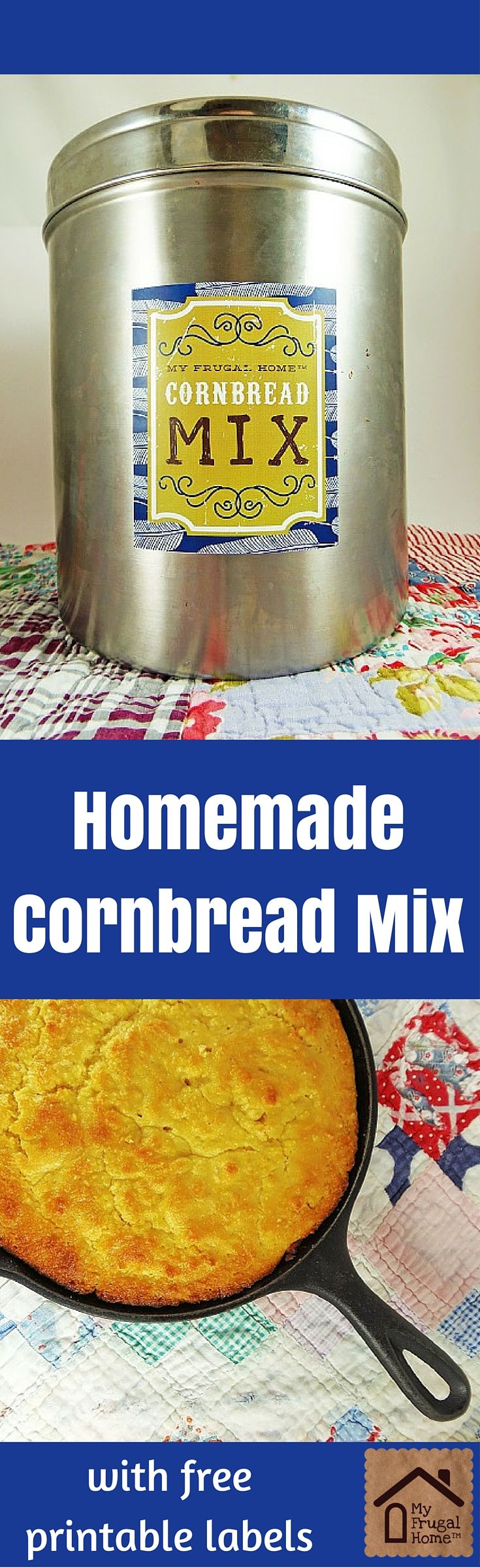 Homemade Cornbread Mix - with free, printable labels
