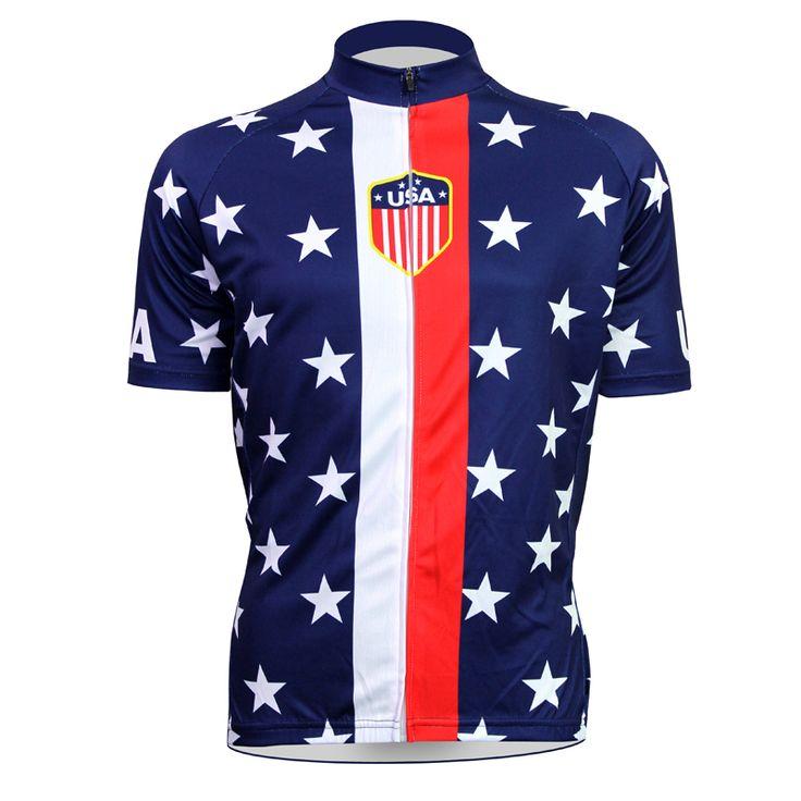 Stars Flag Cycling shirt bike equipment Mens Cycling Jersey Cycling Clothing Bike Shirt Size 2XS TO 5XL ILPALADIN #Affiliate