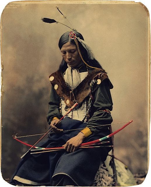 Ogalala Sioux council chief, by Herman Heyn, 1899.
