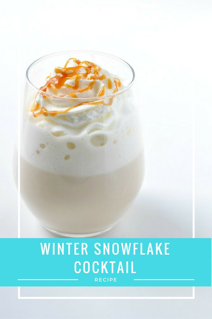 Easy Christmas Cocktail - The Winter Snowflake | Mix white chocolate, baileys, caramel and milk together and what do you get? The most amazing Christmas cocktail recipe ever!