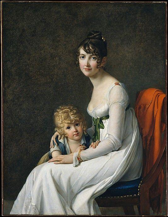 Madame Philippe Desbassayns de Richemont and Her Son, Eugène (1802-03) - Marie-Guillelmine Benoist: