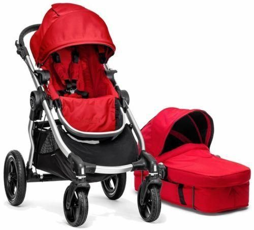 Baby Jogger City Select Stroller Ruby w/ Bassinet Pram System Travel NEW 2017