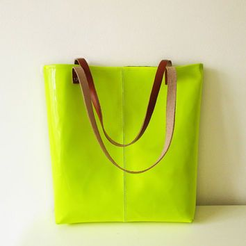 neon green leather bags for women - Google Search