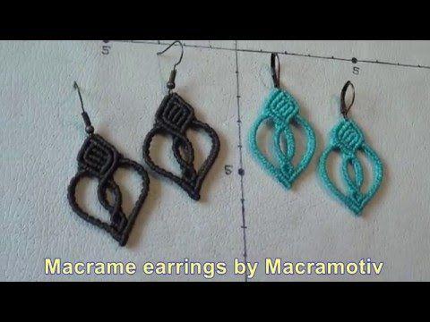Macrame earring tutorial - Macramotiv - - YouTube