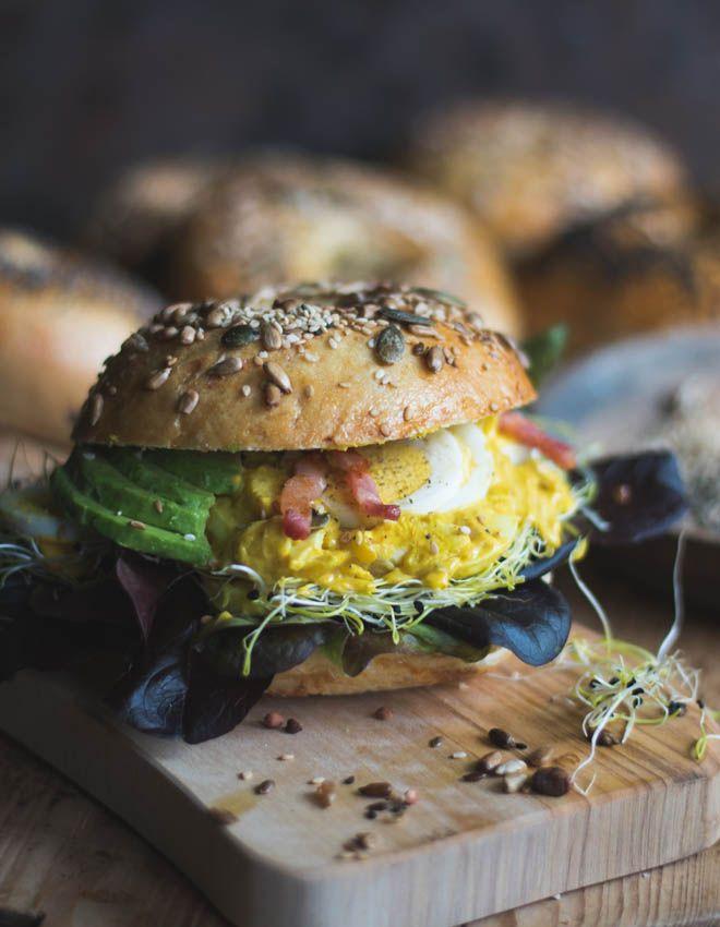 S-Küche: Egg Salad Bagel Sandwich - Eiersalat und Eiersalat Sandwich