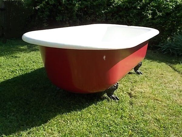 Extraordinary Extra Long Claw Foot Tub In Very Good Condition With Extra  Wide Flat Rim 1919