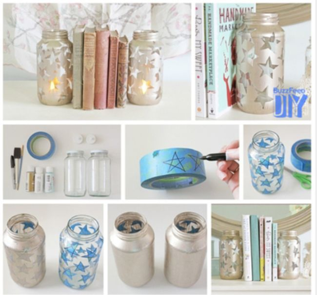 51 best images about diy fa a voc mesma on pinterest for Mason jar bookends