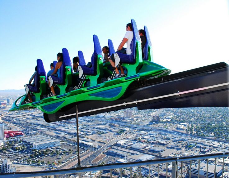Stratosphere Tower's X-Scream Ride. Las Vegas. NOPE.