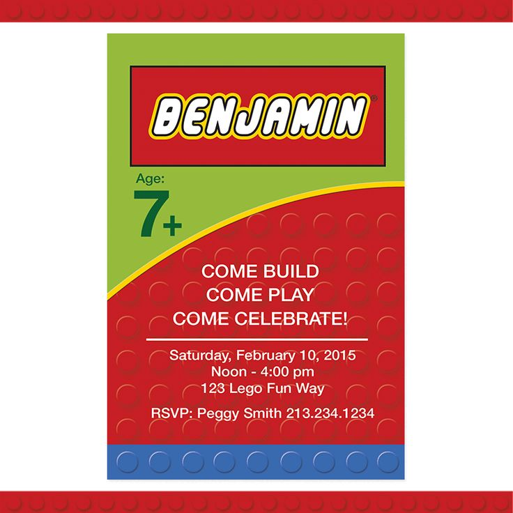 26 best LEGO Birthday Party Printables images on Pinterest ...