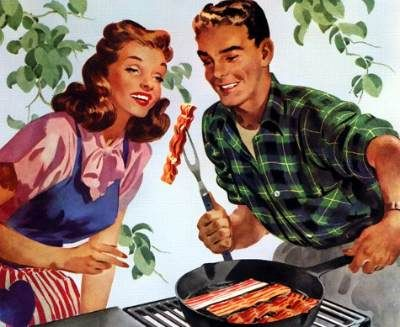 proper technique to fry baconBackyards Bbq, Mmmm Bacon, Image Results, Beautiful Bacon, Funny Stuff, To Fresh, Vintage Food, Vintage Life, Happy Housewife