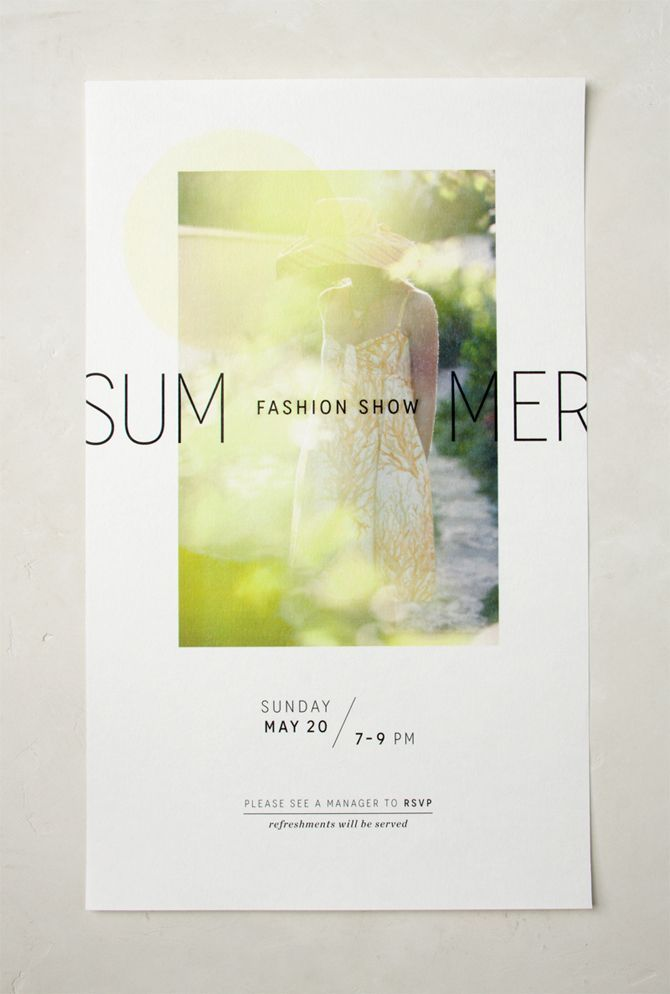Summer Fashion Shows - Jenna McBride : Graphic & Interactive Design