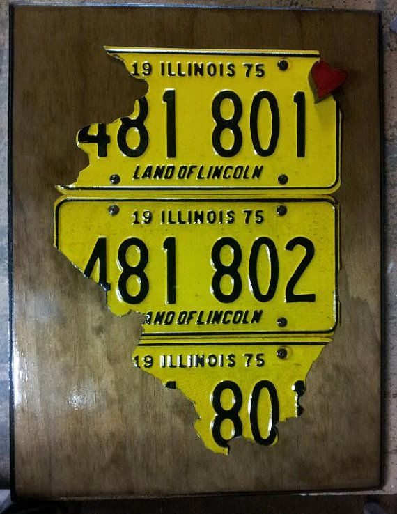 License plate art Chicago Love by RadChicago on Etsy, $125.00