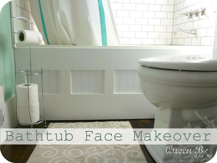 Add a Beautiful cottage feel to the front of your tub! #cottagebathroom #bathroommakeover #bathroom