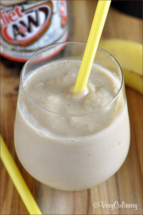 Skinny Root Beer Banana Smoothie | Very Culinary