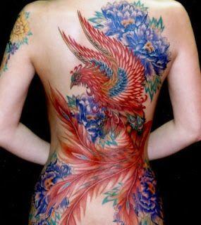Beautiful Phoenix back piece