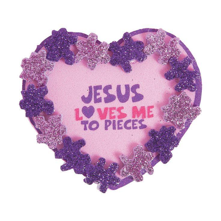 jesus loves me sunday school valentines day crafts - Valentine Sunday School Lesson