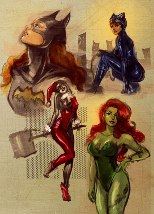 mistahjslover: Gotham Girls sketch by ~Kazeki