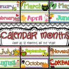 Here are month headers to use for a calendar set. All 12 months of the year are included  Be sure to look for my 12 Monthly Calendar Cards for mat...