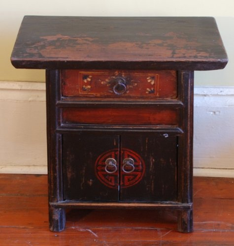ACF9012-Small Antique Oriental Country Cabinet, Antique, China, Wood (Mu), Antique Asian Furniture, $350.00