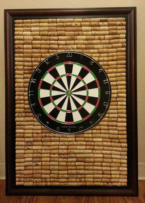 Wine cork dart board