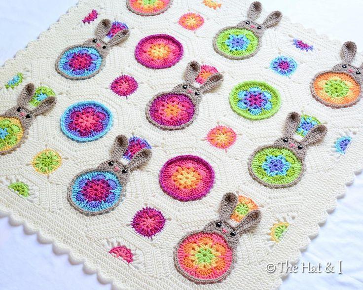 """Bunnies """"R"""" Us - a bunny blanket via Craftsy"""