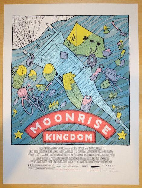 "2013 ""Moonrise Kingdom"" - Silkscreen Movie Poster by Jay Ryan"