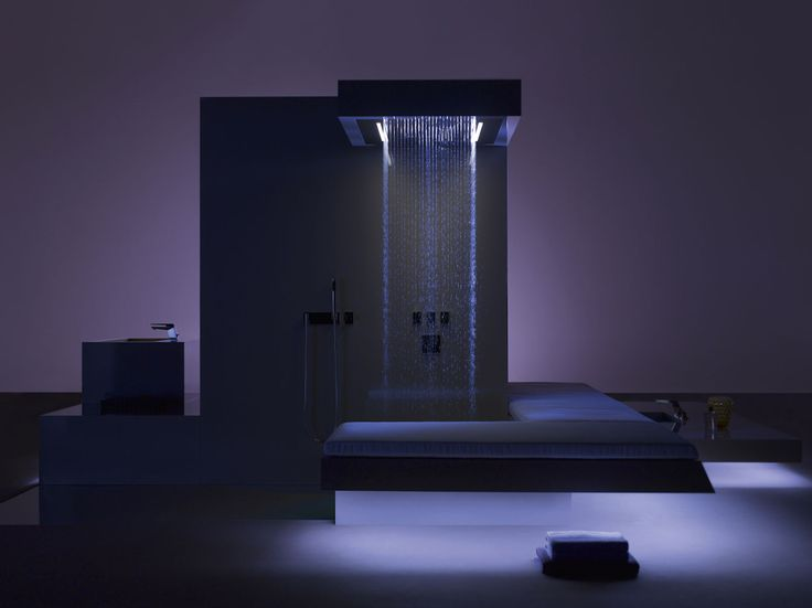 Luxury open concept shower by Dornbracht
