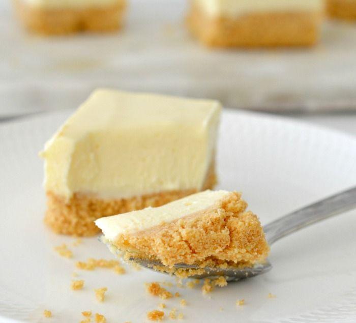 No Bake Lemon Cheesecake Slice