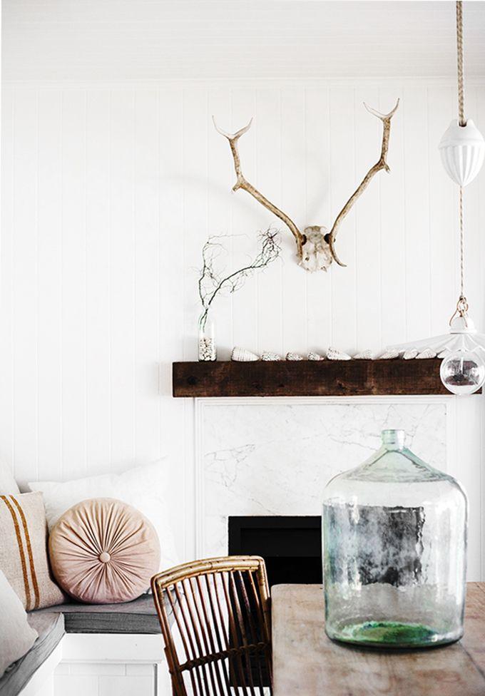 = pastel, antlers and hanging lamp pendant = Kara Rosenlund