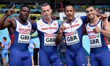 Adam GEMILI, Harry AIKINES-ARYEETEY, Richard KILTY and Danny TALBOT [Silver], [Men's 4 x 100m relay]  England