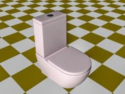 Model of the toilet in the modern form