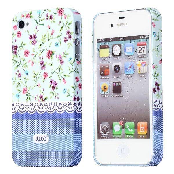 Elegant flower design hoesje voor de iPhone 4 / 4s
