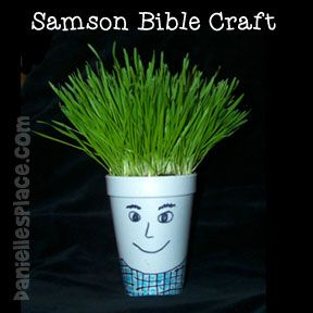 Samson's Hair Bible Craft for Children's Ministry from www.daniellesplace.com