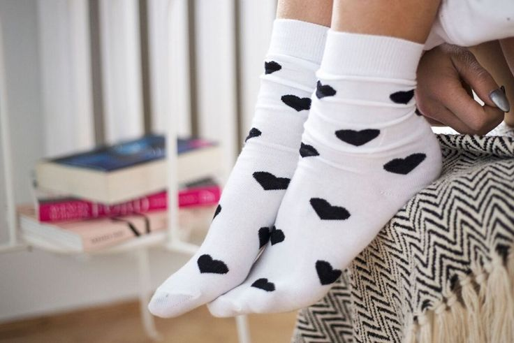 Socks with hearts